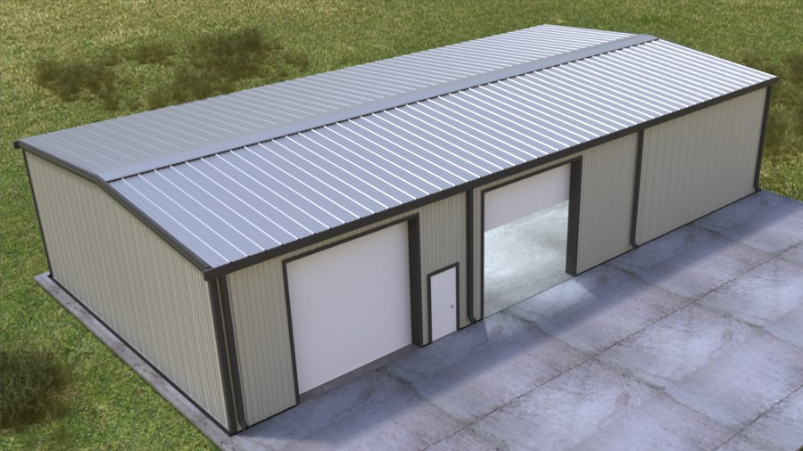 40x80x16 New Metal Building Qe Building Co