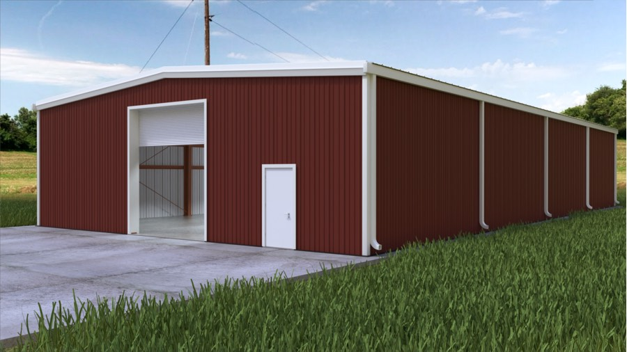 50x100x14 New Metal Building Qe Building Co