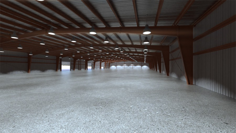 100x300x16 New Metal Building Qe Building Co